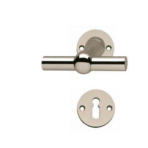 Türgriffe T-Form vernickelt für Zimmertüren (Buntbart)